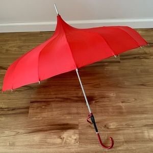 Vintage red pagoda umbrella parasol